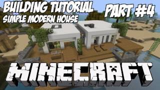 Minecraft Tutorial HD: Simple Modern House 1 - Part 4