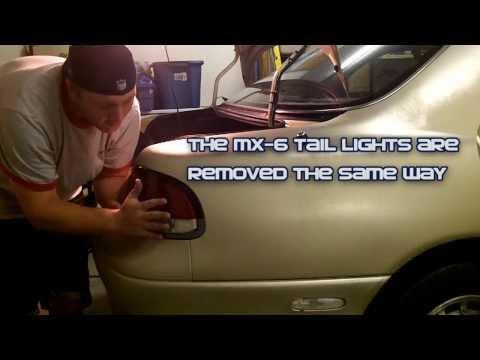 Mazda 626 – Replacing Tail Light Bulbs (1993-2002)