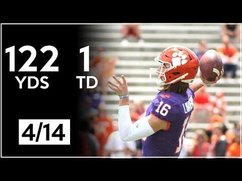 Trevor Lawrence Clemson Spring Game Highlights | 122 Yards, 1 TD | 4.14.18 (видео)