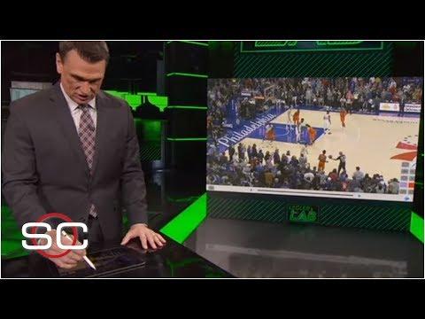 Video: NBA Film Breakdown: How Paul George's 4-point play worked - Tim Legler | SportsCenter