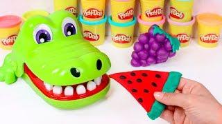 Video Aprendemos las frutas 🐊🌈 Hacemos Frutas de Play Doh con el Cocodrilo Sacamuelas MP3, 3GP, MP4, WEBM, AVI, FLV Maret 2019