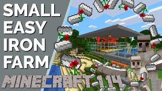 Video Minecraft 1.14 Iron Farm: Small Iron Farm   Fewer Villagers   Less Lag   Expandable (Avomance 2019) MP3, 3GP, MP4, WEBM, AVI, FLV Agustus 2019