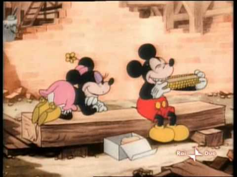 Mickey Mouse & Minnie Mouse-Building a Building(Colorized)