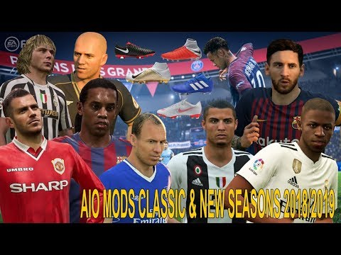 FIFA 18 REVIEW CLASSIC MODS & NEW SEASONS 2018/2019 + SQUAD FILE