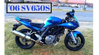 7. 2006 Suzuki SV650S Cold Start & Walk Around