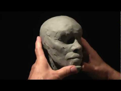 Sculpture - In this head sculpture, I'm using 1/2