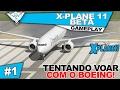 X plane 11 Beta Coop 1 Tentando Voar Com O Boeing Jogo