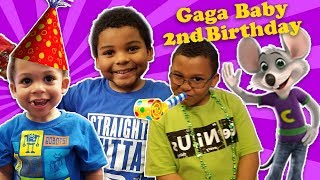 Video GAGA'S BABY 2nd BIRTHDAY! Toys R Us & Chuck E Cheese Celebration download in MP3, 3GP, MP4, WEBM, AVI, FLV January 2017