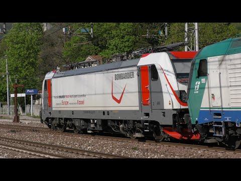 """2019-04-20 Sul Brennero non ci si annoia mai!! E 494 MIR, DB 193 """"Das ist Grün"""", 188 005 Bombardier"""
