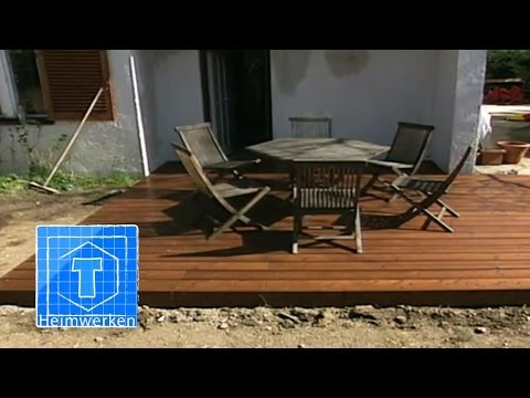 holz terrasse selber bauen tooltown heimwerken selber. Black Bedroom Furniture Sets. Home Design Ideas