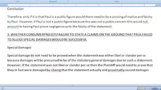 Pass The CA (California) Bar Exam - How To Write The February 2009 - Torts Essay - Defamatory