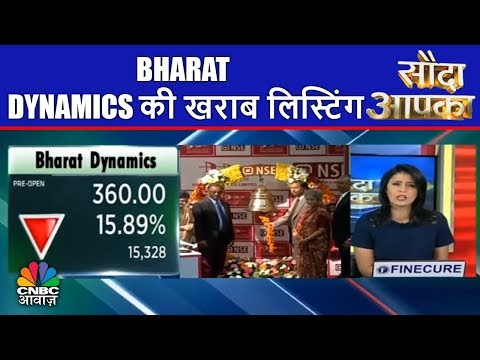 Bharat Dynamics की खराब लिस्टिंग | Sauda Aapka | 23rd Mar | CNBC Awaaz