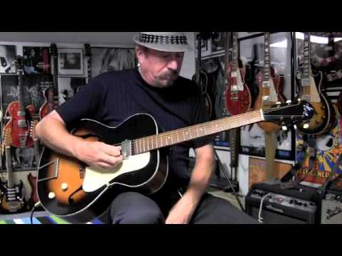 1950s Kay Value Leader Hollowbody Electric Guitar Demo