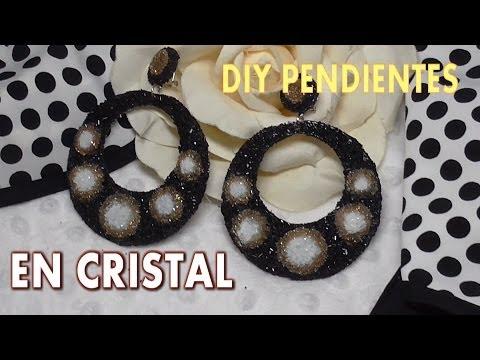 DIY PENDIENTES DE FLAMENCA EN CRISTAL