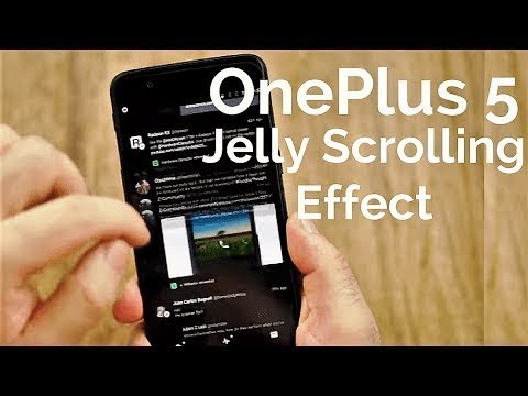 How To fix  'jelly' scrolling effect on OnePlus 5 for 4pda.ru