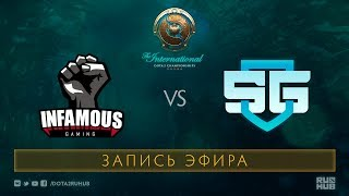 Infamous vs SG-eSports, The International 2017 Qualifiers, map 3 [Jam, Tekcac]