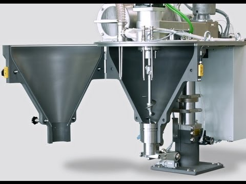 packaging machinery - semi automatic liquid&granule&powder filling packaging machine auger filler Schneckendosierer designed and manufactured by PENGLAI cosmetic&food&pharma makin...