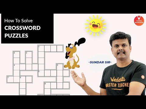 Crossword |🧩 Puzzles🧩 | How To Solve Crossword Puzzles ❓ | Vedantu Class 6 - 8 | Young Wonders