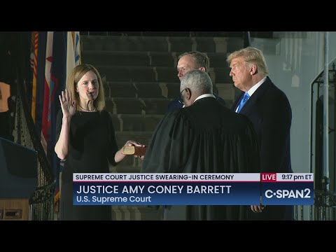 Justice Amy Coney Barrett is Sworn In and Delivers Remarks at White House Ceremony