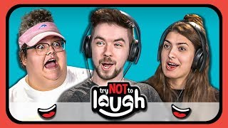 Video YouTubers React to Try to Watch This Without Laughing or Grinning #20 MP3, 3GP, MP4, WEBM, AVI, FLV September 2019