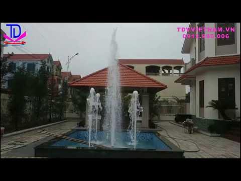 Làm đài phun nước mini tại biệt thự Đông Tảo - Khoái Châu - Hưng Yên