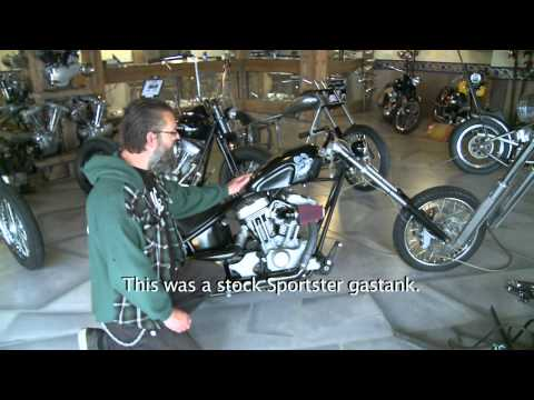 Harley-Davidson Sportster turns into a KICK-ASS Chopper !