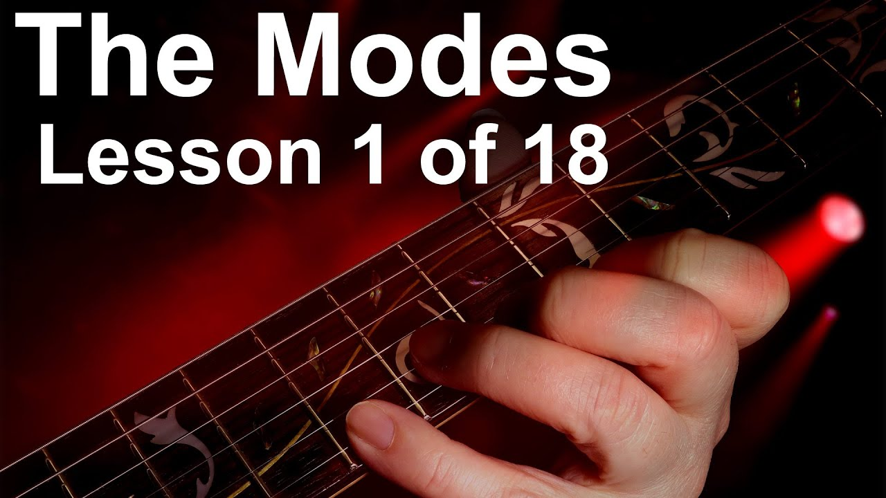Guitar mode scale exercises 1 – speeding up exercises.