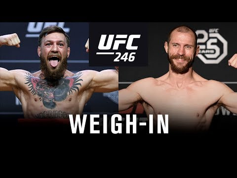 UFC 246: Weigh-in McGregor vs Cowboy