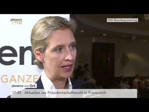 AfD-Bundesparteitag 2017: Alice Weidel im Interview am 23.04.2017