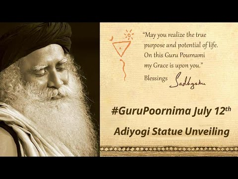 guru - Next Session will be at 10:15pm Sathsang with Sadhguru. First session of Guru Pournima 2014 - Sadhguru will unveil the first Adiyogi Statue that is bound for the Isha Institute of Inner Science,...