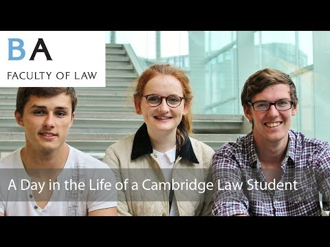 cambridge - Three first year undergraduate Law students at the University of Cambridge record their activities on a typical day.