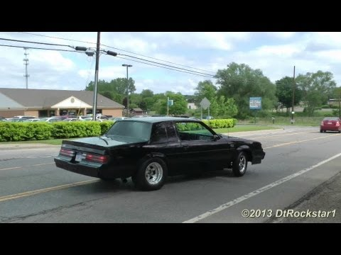 Burnout - DtRockstar1 records a series of cars accelerating away very loudly. You'll see a 1200 horsepower Buick Grand National doing a burnout, two Cadillac CTS-V ca...