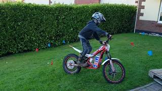 1. Liam on his Beta 20 XL Electric Trials Bike