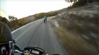 7. Chasing an Aprilia SXV 450 and dragging our boots