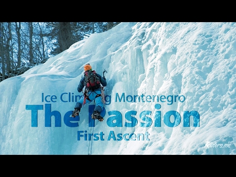 Climbing the frozen Montenegro waterfalls
