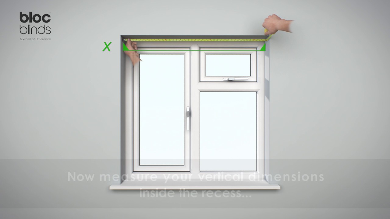 Measure recess mount Roller Blind