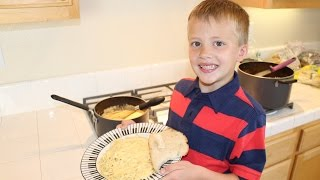 Here is 6-Year-Old David in his first cooking video! He was SOOOO proud of himself for making a family dinner all by himself!! Here is the recipe we used: 4 ...