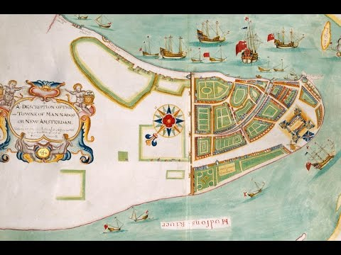 New Amsterdam (New York City) History and Cartography (1664)