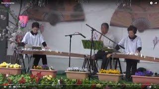羽黒桜まつり3筝尺演奏八菊温会
