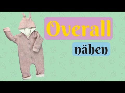 Winter Overall/Teddyanzug fürs Baby nähen-Videoanleitung für Kuschelanzug+KOSTENLOSEM SCHNITTMUSTER