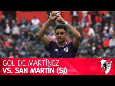 Gol de Gonzalo Martínez vs. San Martín (SJ)