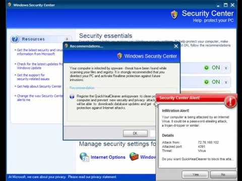 0 Fake Windows Security Center Analysis and Removal