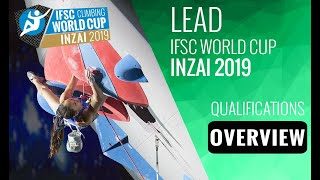 IFSC Climbing World Cup Inzai 2019 - Lead - Qualification Overview by International Federation of Sport Climbing