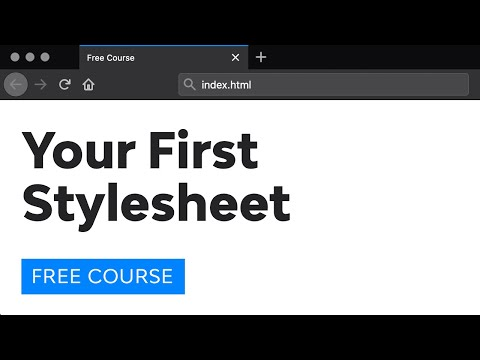 Your First Stylesheet