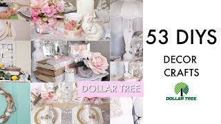 53 DIY DOLLAR TREE DECOR CRAFTS🎀 FRENCH CHIC / FARMHOUSE / GLAM/ SPRING / EASTER /BRIDAL /COASTAL