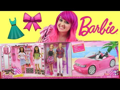 Barbie Dress Up & Go Play Set with Ken + Glam Car + Ultimate Closet | TOY REVIEW | KiMMi THE CLOWN
