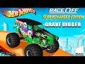 Hot Wheels Race Off Grave Digger Monster Truck