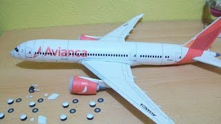 Video Avianca 787-8 Dreamliner Papercraft MP3, 3GP, MP4, WEBM, AVI, FLV Juni 2018