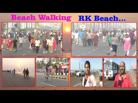 Beach Walking Public at RK Beach To YMCA in Visakhapatnam,Vizag Vision...