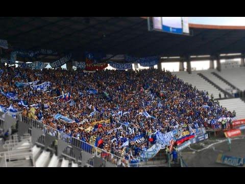 La Hinchada de Millonarios celebra en Manizales - Once Caldas vs Millonarios 03/04/2016 - Comandos Azules - Millonarios